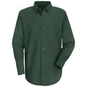 Spruce Green 100% Cotton Wrinkle Resistant Cotton Work Shirt