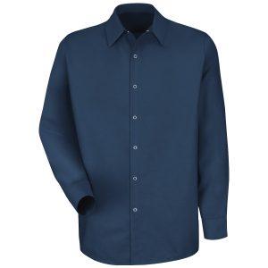 Red Kap Navy Specialized Pocketless Work Shirt