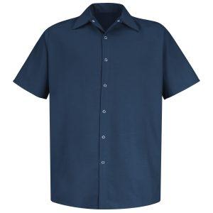 Red Kap Navy Short Sleeve Specialized Pocketless Work Shirt