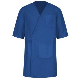 Navy Blue Three Quarter Sleeve Wrap Gown