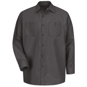 Red Kap Charcoal Industrial Long Sleeve Work Shirt