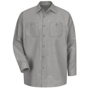Red Kap Light Grey Long Sleeve Industrial Work Shirt