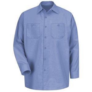 Red Kap Light Blue Long Sleeve Industrial Work Shirt