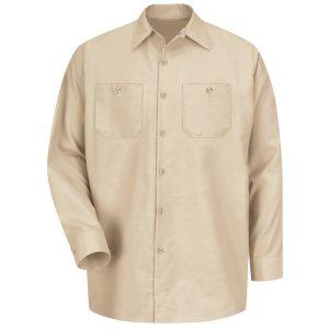 Red Kap Light Tan Long Sleeve Industrial Work Shirt