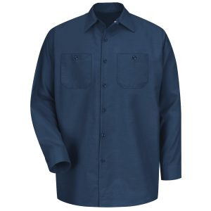 Red Kap Navy Long Sleeve Industrial Work Shirt