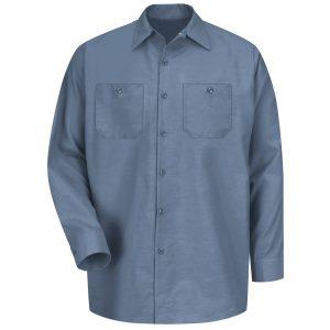 Red Kap Postman Blue Long Sleeve Industrial Work Shirt