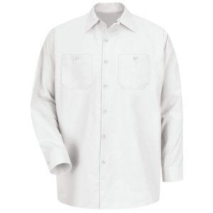 Red Kap White Industrial Long Sleeve Work Shirt
